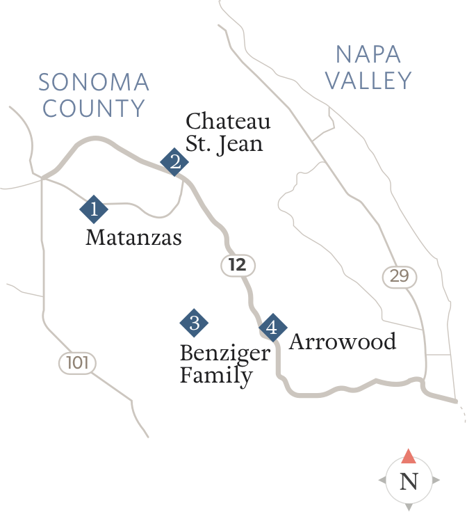 Map of Highway 12 Locations